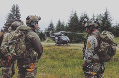 Combat Control Team members of the 125th Special Tactics Squadron train on a search and rescue mission during Cascade Rising at Camp Rilea, Ore. Members of Oregon Air National Guard are participating in Cascadia Rising, a full-scale exercise involving federal, state, county and city agencies designed to test the state's earthquake response plan in the event of a Cascadia Subduction Zone event. (U.S. Air National Guard photo by Tech. Sgt. Emily Thompson, 142nd Fighter Wing Public Affairs)…