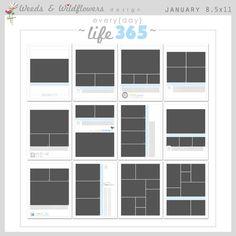 8X10 Storyboard Template Set 2 | Scrapbooking | Pinterest