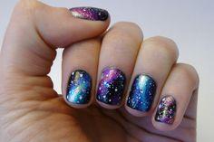 Casa de Polish: Nail Art Nail-Off: Galaxy Nails with tutorial