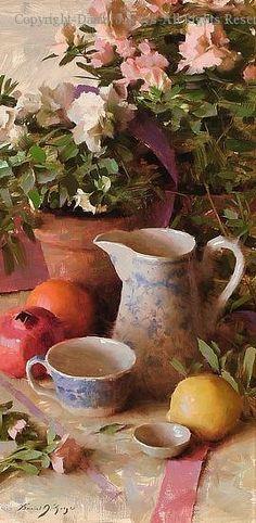 Azaleas - Oil by Daniel J. Keys