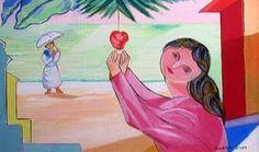 Cicero Dias Mulher e Maca Disney Characters, Fictional Characters, Disney Princess, Painting, Fine Art, Dibujo, Woman, Princesses, Artists