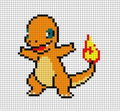 I decided to try something new, that is, upload some patterns! Really, all this is are the gridded images I used to create the Pokémon blanket above, with some explanation of how I used them to mak… Pokemon Cross Stitch, Dragon Cross Stitch, Cross Stitch Kits, Cross Stitch Designs, Cross Stitch Patterns, Perler Bead Pokemon Patterns, Pokemon Crochet Pattern, Charmander Pokemon, Pikachu