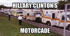 Actually a fleet of coroner's wagons is more appropriate for the sea of dead bodies in her wake.