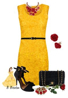 """""""Belle Inspired"""" by bbroxton ❤ liked on Polyvore featuring Funlayo Deri, Disney, Chanel and Temperley London"""