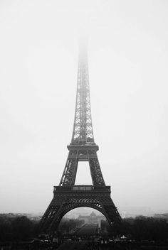 Pearls & Peonies MISTY PARIS, EIFFEL TOWER IN THE MIST Tour d'eiffel FRANCE