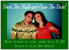 Our Christmas save the date! Looks a little darker on here than it did in real life.