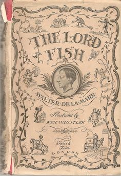 'The Lord Fish' by Walter de la Mare. Book cover illustration by Rex Whistler