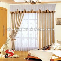 Royal Style Jacquard Home Textile Curtain With Valance