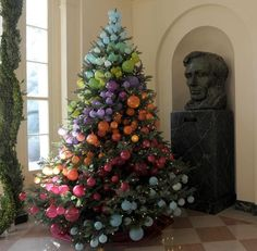 While I love my semi traditional Christmas tree...this looks cool!