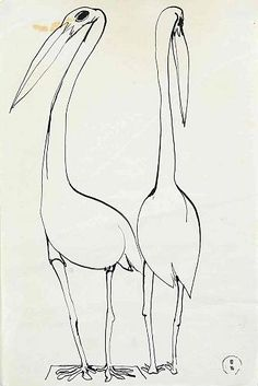 Whiteley, Brett, Pair of Birds Drawing Art, Art Drawings, White Art, Black And White, Australian Artists, Art Market, Artist Painting, Bird Art, Contemporary Paintings