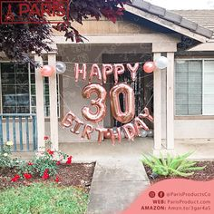 30th Birthday Balloons, 30th Birthday Cake Topper, 30th Birthday Decorations, Happy 30th Birthday, 21 Birthday, 30th Party, 30th Birthday Parties, 18th, Birthdays