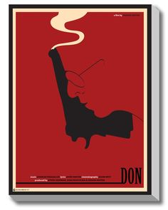 #GABAMBO. Minimal Movie Poster DON. Illusion. #Bollywood #Poster #Canvasart #SRK  Available at www.gabambo.com