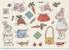 Mama and Baby Bunny Auf medlem.spray.se http://www.pinterest.com/vmarlin/paper-dolls-animals/