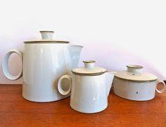 Dansk Brown Mist Coffee Pot. Dansk Sugar and Creamer set.