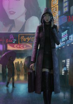 ArtStation - cyberpunk fanart, GuoXiang Qin