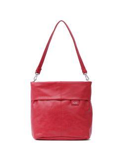 Frauentaschen :: MADEMOISELLE :: M8 | ZWEI Taschen Handtasche :: rot :: lederfrei
