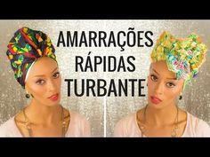 Como Amarrar turbante Rápido e Fácil VEDA #vedadaspretas - YouTube