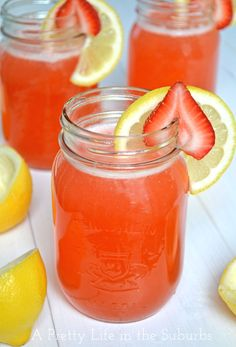 Strawberry Lemonade, yum!