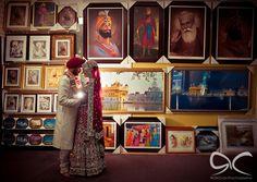 http://weddingstoryz.blogspot.in/ Indian Weddings Desi Weddings Bride makeup jewelry lehenga :) the perfect gurdwara wedding picture!