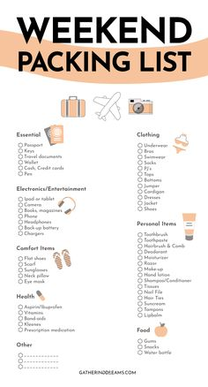 Travel Packing Checklist, Travel Bag Essentials, Travel Essentials For Women, Packing Tips, Travel Tips, Holiday Essentials List, Travel Hacks, Budget Travel, Packing List For Vacation