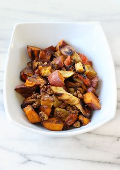 Roasted Root Vegetables with Toasted Mulberries and Horseradish Dressing - Caroline's Kitchen