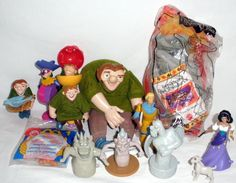 Nice Lot Of Burger King Hunchback Of Notre Dame Toys And Hand Puppets #Disney