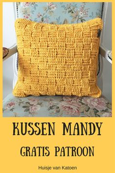 Kusesn stitch with free pattern. - DIY Idea Home 2019 Crochet Cushions, Crochet Pillow, Small Blankets, Knitted Blankets, Crochet Home, Diy Crochet, Knitting For Dummies, Knitting Patterns, Crochet Patterns