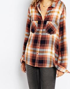 Image 3 ofVila Check Long Sleeve Shirt