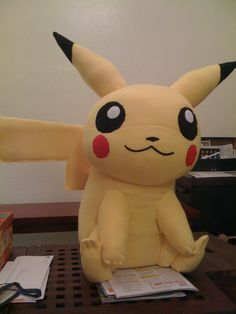 Does this ever happen to you: you want to get someone a doll of a certain character but you find that everything out there is subpar and/or $300? I needed to make a Pikachu doll for this very reason. I couldn't find stuffed animals that were high quality. What I did find were some great paper craft models and patterns. I constructed the paper model and used it as a prototype for my fabric Pikachu, modifying the pattern to make it work with stretchy fabric that had to be stuffed and sewn…