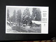 Big Bear Lake CA~1950s FAWNSKIN~MALT SHOP~FRASHERS RPPC