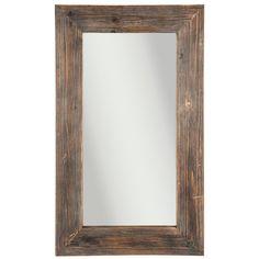 Rustic Brown Wood Wall Mirror Distressed Country Farmhouse Bar Bathroom Vanity  #TheNeedfulThings #Rustic
