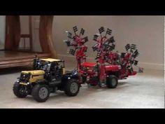 Lego technic tractor JCB 2155 with rake (hark) Fella TS 4000 - YouTube