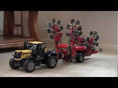 Lego technic tractor JCB 2155 with rake (hark) Fella TS 4000 - YouTube