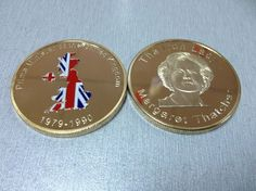 1979-1990 Margaret Thatcher Iron Lady Coins 5pcs/lot Free Shipping 1oz Prime Minister of the United Kingdom Color Gold Clad Coin