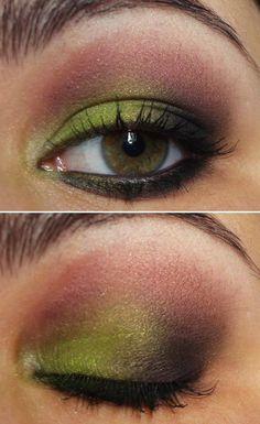 Green, Violet and Black #Makeup