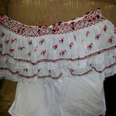 Bobbin Lacemaking, Cotton Blouses, Dance Costumes, Baby Dress, Panama, Hand Embroidery, Off Shoulder Blouse, Ballet Skirt, Celebrities