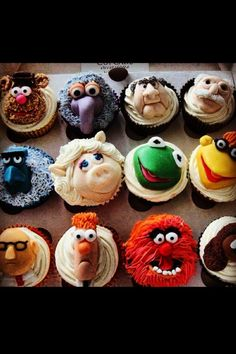 Muppets Cupcakes! AMAZING IDEA! Kids will love this!