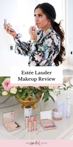 My Review from the Estee Lauder Makeup Collection Act IV by Danielle Lauder. The products are insanely gorgeous! From the packaging to the quality. I has a beautiful makeup brushes kit, a bold eyeshadow palette, a very luminous -but very soft glow- highlighter, a primer that helps instantly smooth your pores, starlucent powder and various shades of lipsticks | Beauty | The Sweetest Thing Blog by Emily Ann Gemma Estee Lauder Makeup, Sephora Makeup, Beauty Tips For Skin, Best Beauty Tips, Best Skincare Products, Beauty Products, The Sweetest Thing Blog, Emily Ann, Coral Blush
