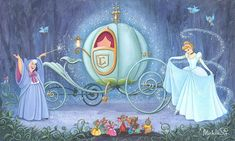 Disney Fine Art: Fit For a ball by Michelle St. Laurent