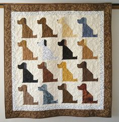 The Universal DOG quilt     53 x 56 inches by doodlebugquilts, $140.00
