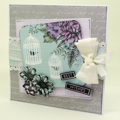 Made by Clare Curd using the Craftwork Cards Birds and Blooms Stamps and Birds and Blooms Collection.