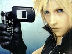Cloud with his phone Cloud And Tifa, Cloud Strife, Final Fantasy Vii, Finals, Promised Land, Clouds, Yazoo, Kingdom Hearts, Advent
