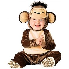 Mischievous Monkey Baby Toddler Boys Soft Cute Halloween Costume | eBay