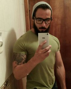 Sexy bearded and nerdy