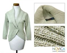 Women's Cotton 'Maya Mint' Cardigan Sweater (Guatemala) - Overstock Shopping - Great Deals on Novica Women's Clothing