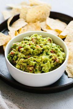 Best Ever Guacamole (Fresh, Easy & Authentic) | Downshiftology Mexican Dishes, Mexican Food Recipes, Vegetarian Recipes, Dinner Recipes, Cooking Recipes, Healthy Recipes, Ethnic Recipes, Mexican Cooking, Paleo Food