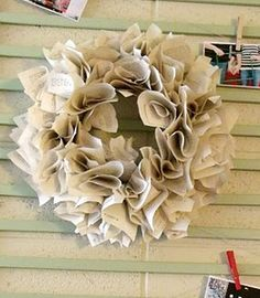 book page wreath-love  it :)