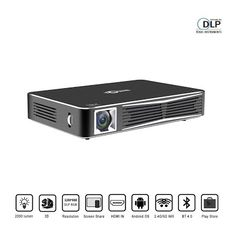"""""""Features & Benefits"""" TOUMEI V3 Smart Video Projector DLP 3D Home Theater WiFi Bluetooth Projector Portable Mini Office Projector Multi-screen Sharing Android HDMI-in USB TV TF-card SD Remote Control with Free 3D Glasses"""