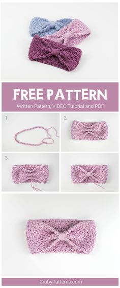 FREE PATTERN: Super Easy Crochet Headband – Croby Patterns