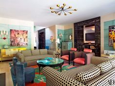 An Amazing and Colorful Design Project by Kelly Wearstler in L.A.